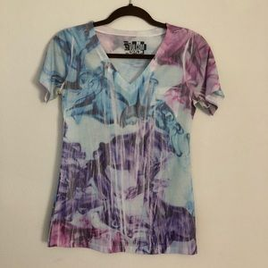 Volcolm tie dyed VNeck
